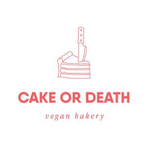 Cake or Death Vegan Bakery logo image
